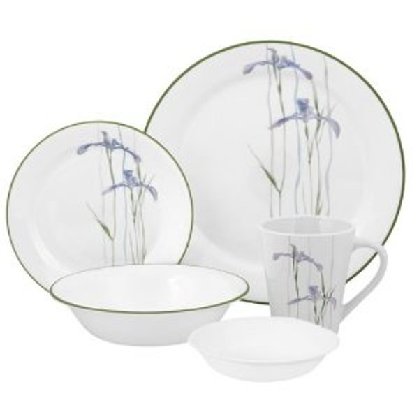 "Corelle: ""Impressions Shadow Iris"" a 30 Piece Dinnerware, Serves for 6 people"