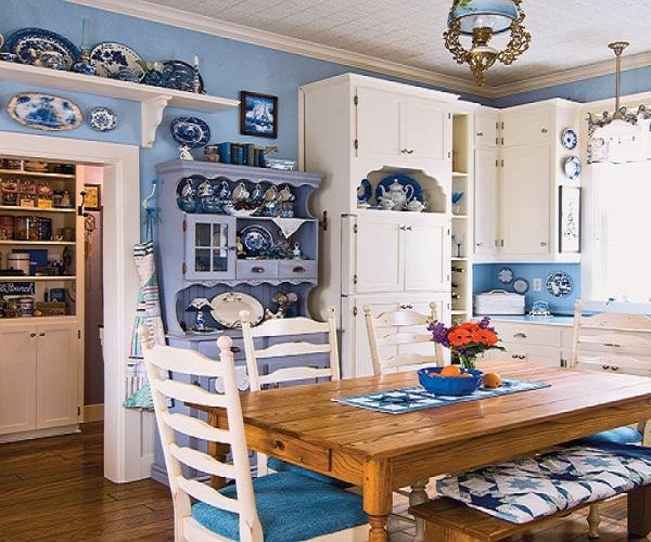 Country Blue Kitchen Ideas 600 X 500 144 Kb Jpeg