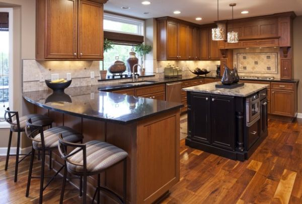 Different materials can add a unique beauty to your kitchen.