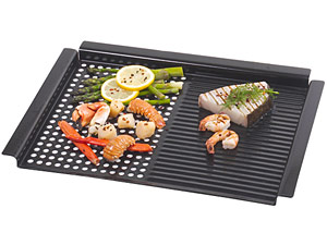 dual bbq grillgriddle pan