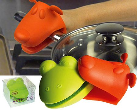frog dog hot heads oven mitts 49