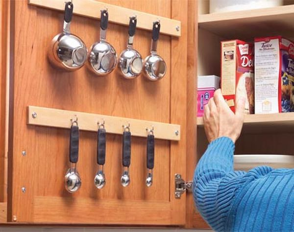 Get creative with the hooks in your kitchen