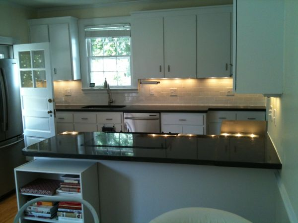 Marble and concrete kitchen counter top
