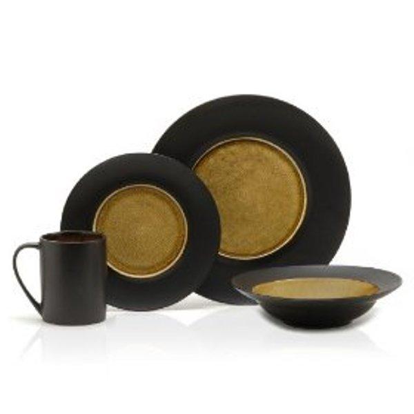 Mikasa Gourmet Basics :  Sarafin 16 Piece Dinnerware Sets, Serves 4 people