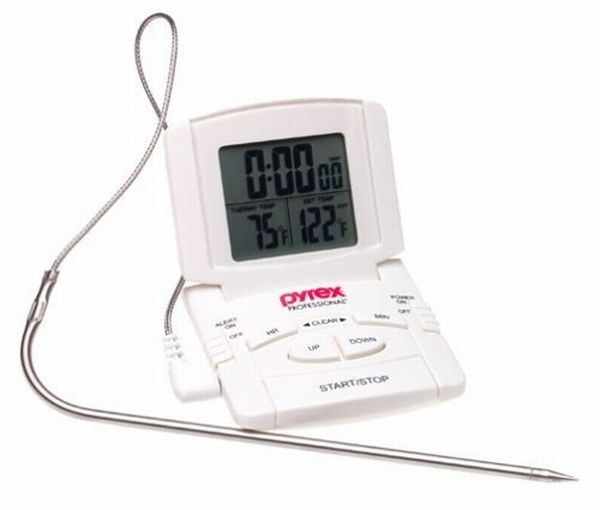 Pyrex digital probe oven thermometer cum timer