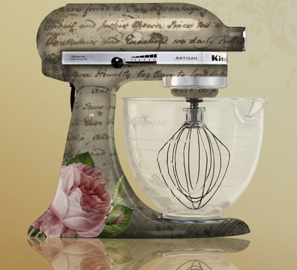 Has anyone painted or customized their mixer baking forums - Decorated kitchenaid mixer ...
