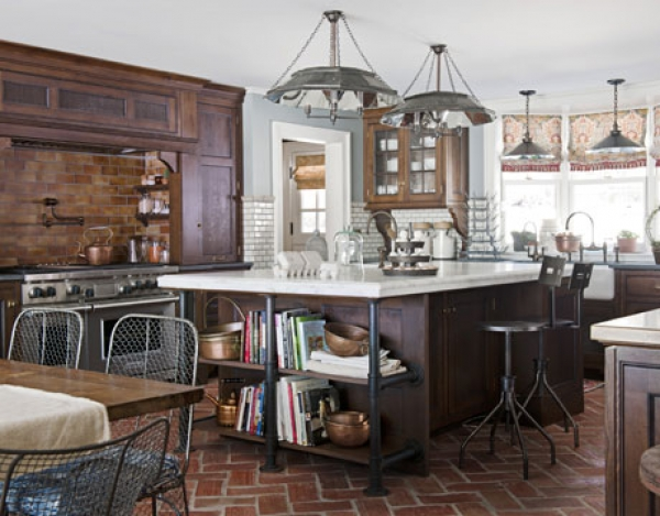 how to design an old fashioned farmhouse kitchen with