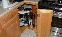 Lazy Susan in Kitchen Base Cabinet 1