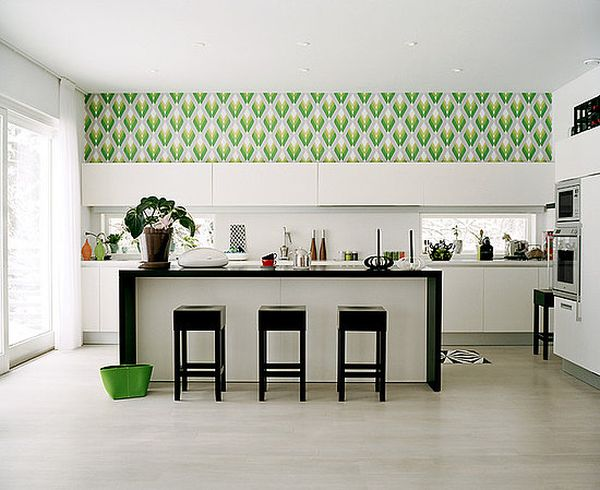 Exotic-green-kitchen-wallpaper-ideas