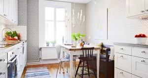 swedish-flat-apartment-sweden-small-kitchen-wallpaper-geometric