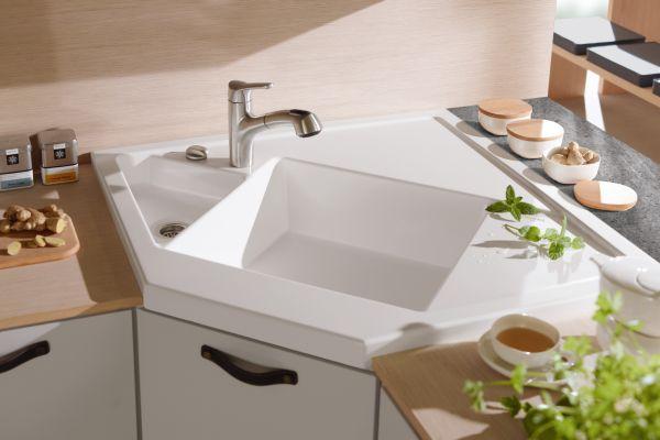 Compact Corner Sinks