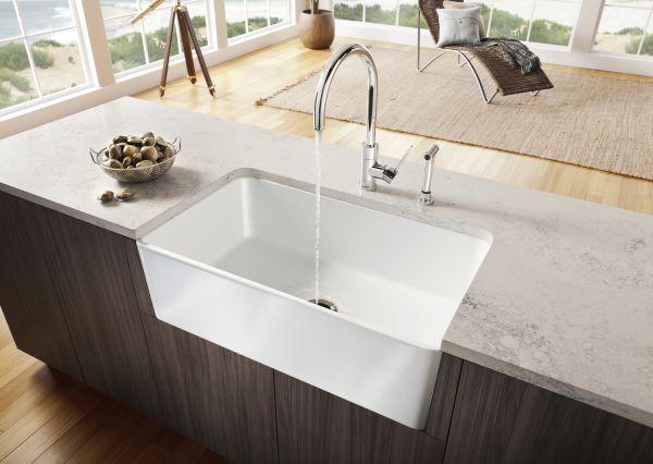 Extra Large Sink on Kitchen Island