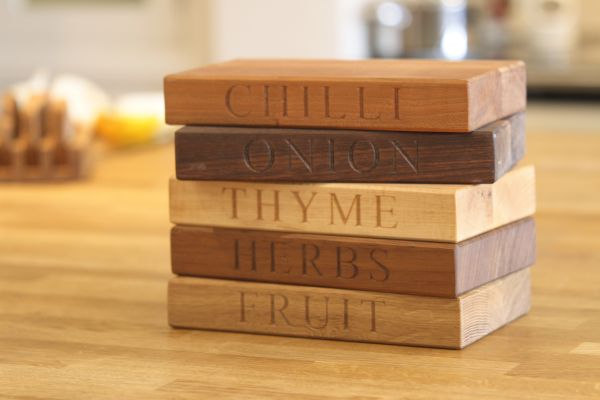 Personalized Wooden Chopping Board Set