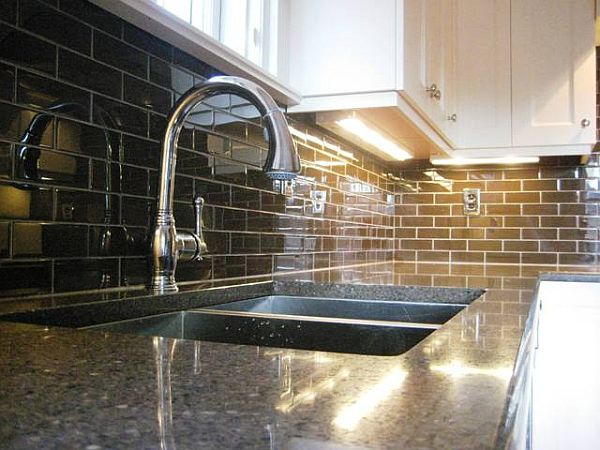 Glass tile kitchen backsplash 2