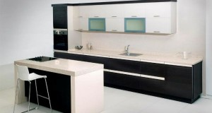 I-shape kitchen design