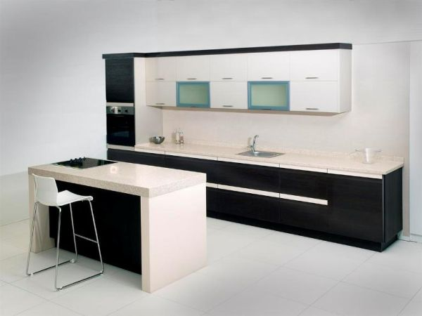 I-shape kitchen design
