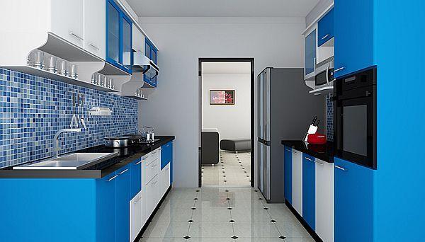 Parallel modular kitchen design