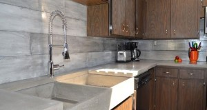 concrete backsplash