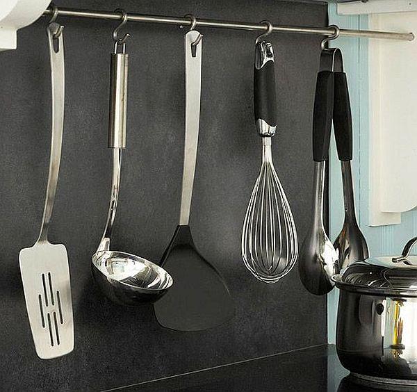 steel rod utensil holder