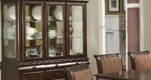 Arranging a china cabinet