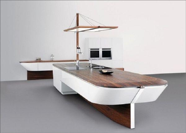 Kitchen Island that looks like a deck