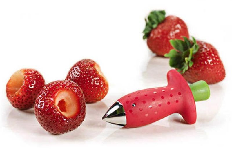 Strawberry stem extractor
