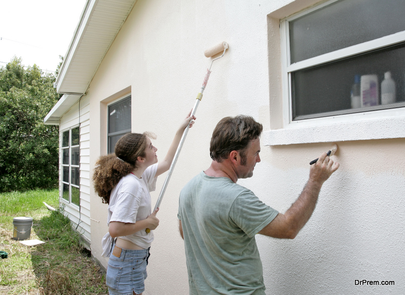 Paint on the exterior of your home adds an additional layer