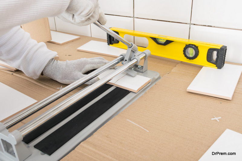cutting of tiles